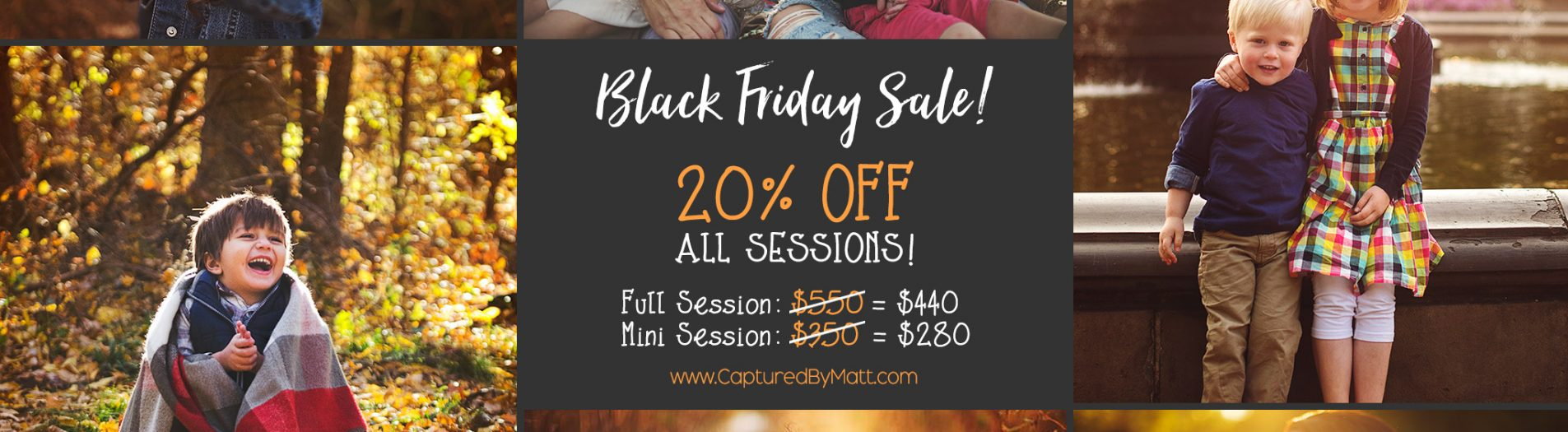 Black Friday Sale! 20% OFF on all Sessions!